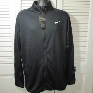 NWT Nike Dri Fit Black Full Zip Jacket LT
